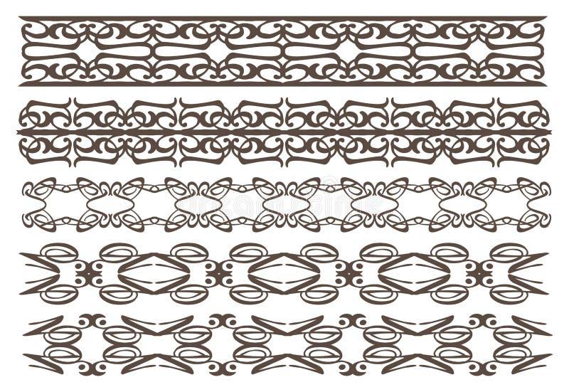 Elementi Decorativi D Annata Di Progettazione Fotografie Stock