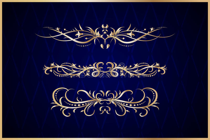 Elementi decorativi dell'oro royalty illustrazione gratis