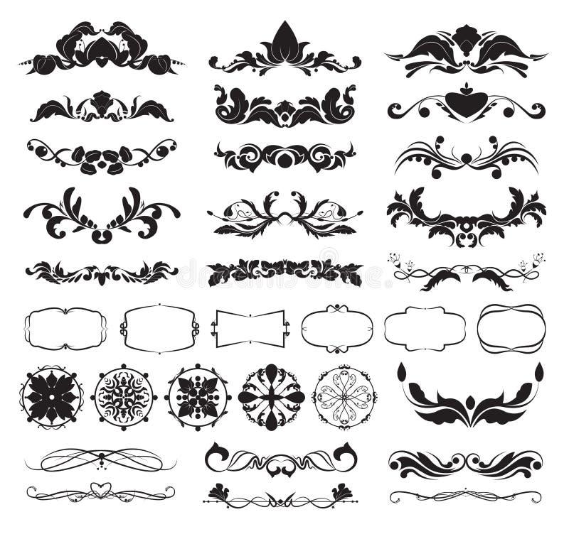 Elementi decorativi di disegno royalty illustrazione gratis