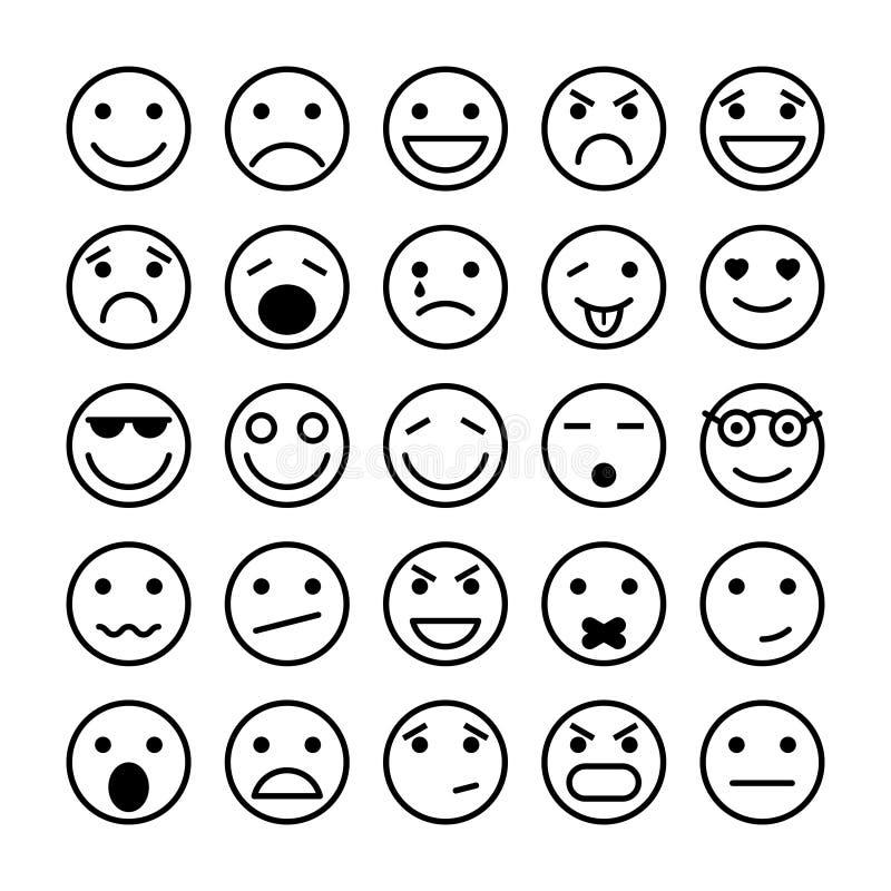 Elementi dei fronti di smiley per progettazione del sito Web illustrazione vettoriale