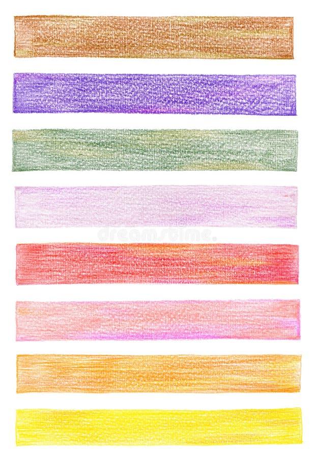 Elementi del grafico della matita di colore fotografia stock libera da diritti