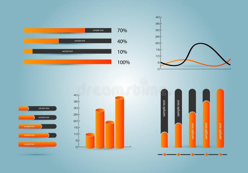 Elementi del infographics illustrazione vettoriale