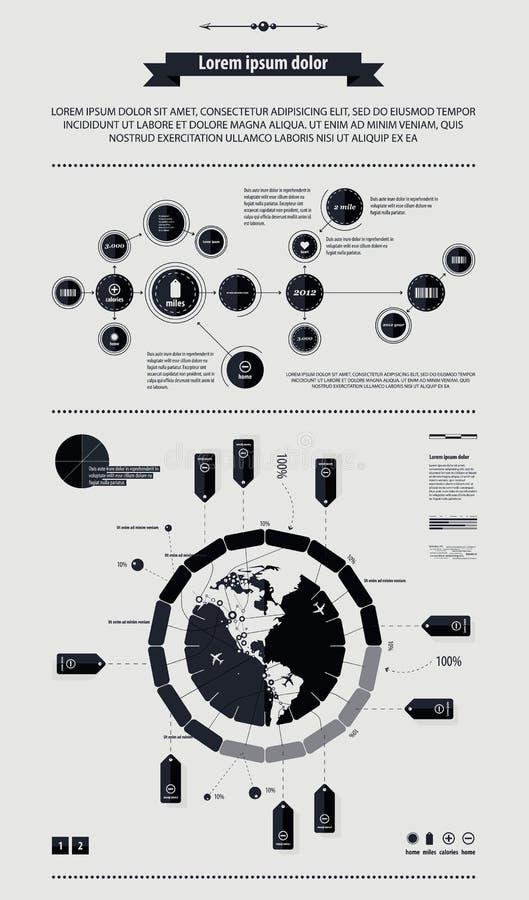 Elementi del infographics con un programma dell'America royalty illustrazione gratis
