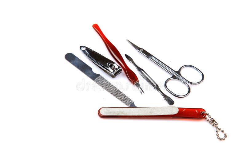 Elementi del manicure immagini stock