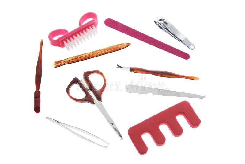 Elementi del manicure fotografia stock libera da diritti