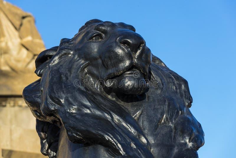 Elementi del monumento a Columbus a Barcellona fotografia stock libera da diritti
