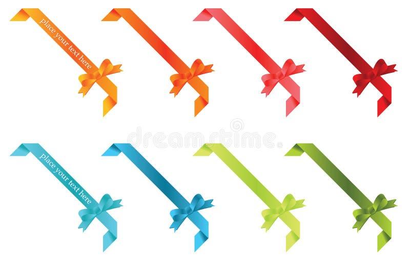 Elementi del nastro illustrazione di stock