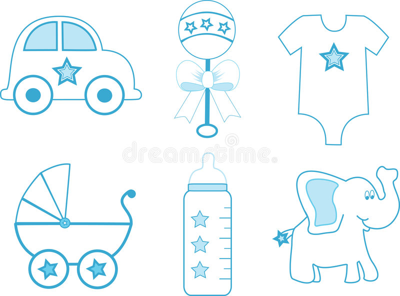 Elementi del neonato fotografia stock libera da diritti