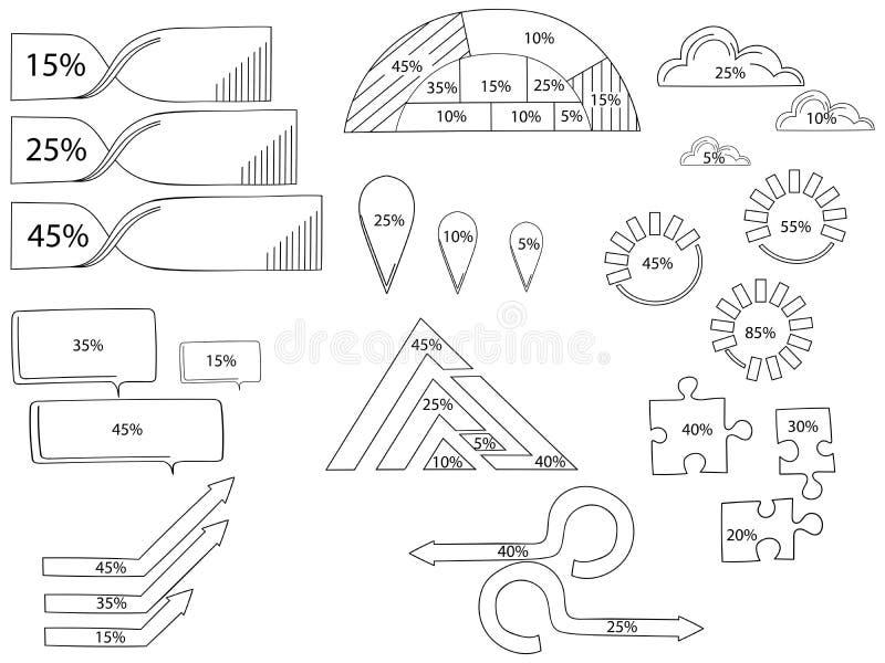 Elementi del quadro televisivo per infographic Modello per il diagramma del ciclo, il grafico, la presentazione ed il grafico rot illustrazione vettoriale