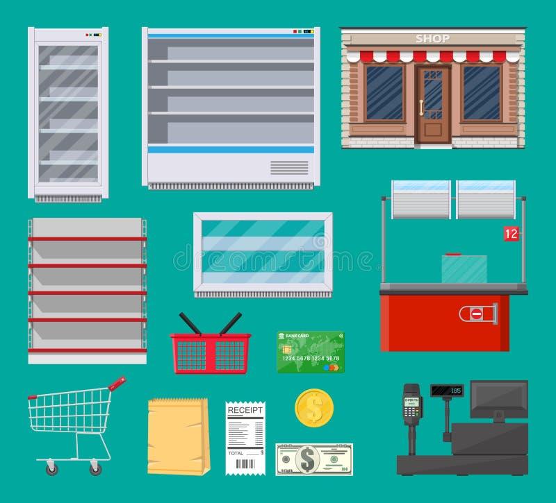 Elementi del supermercato messi royalty illustrazione gratis