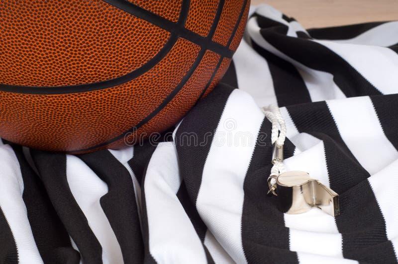 Elementi dell'arbitro di pallacanestro immagine stock