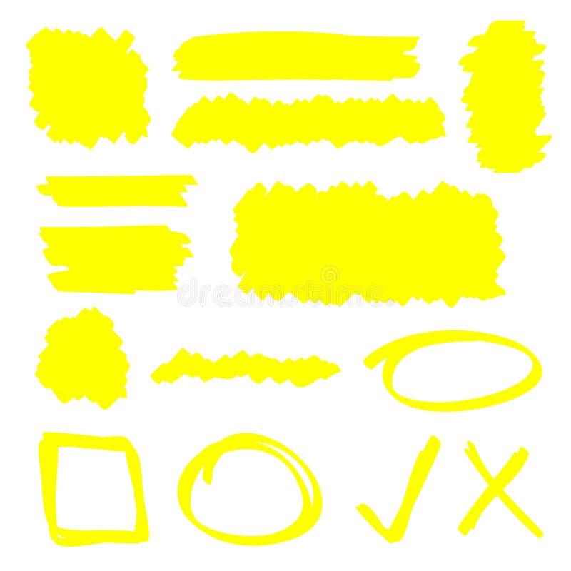 Elementi dell'evidenziatore illustrazione vettoriale
