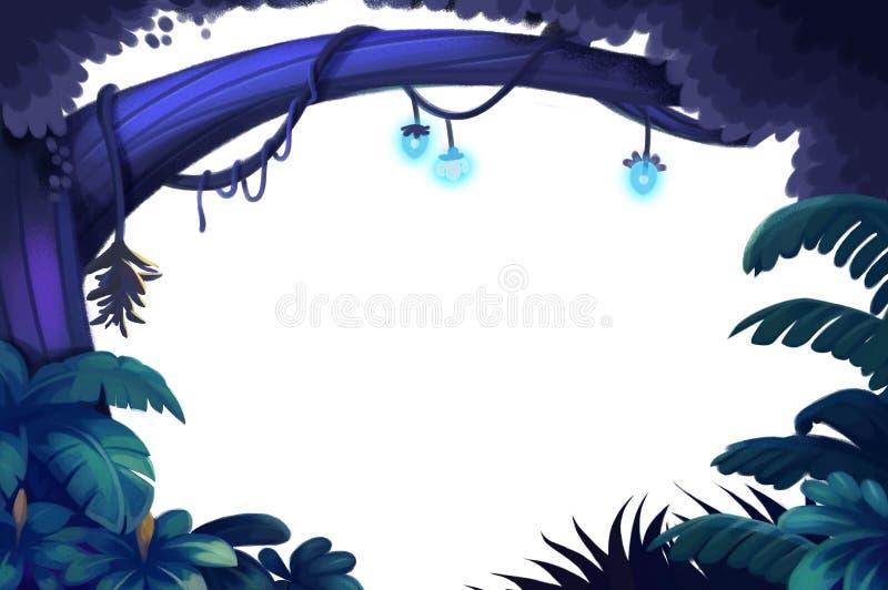 Elementi dell'illustrazione: Forest Tree ha isolato nel fondo bianco royalty illustrazione gratis