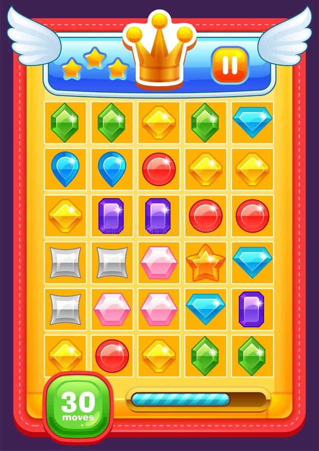 Elementi dell'interfaccia del gioco illustrazione di stock