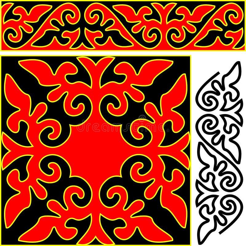 Elementi dell'ornamento orientale. illustrazione di stock