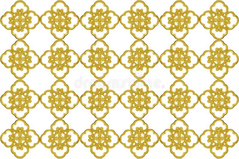 Elementi dell'ornamento, progettazioni floreali dell'oro d'annata per fondo immagini stock