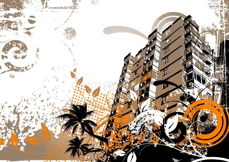 Elementi della città di Grunge illustrazione vettoriale