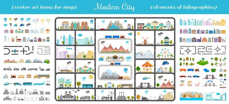 Elementi della citt moderna vettore di riserva for Software di progettazione di costruzione di case gratuito
