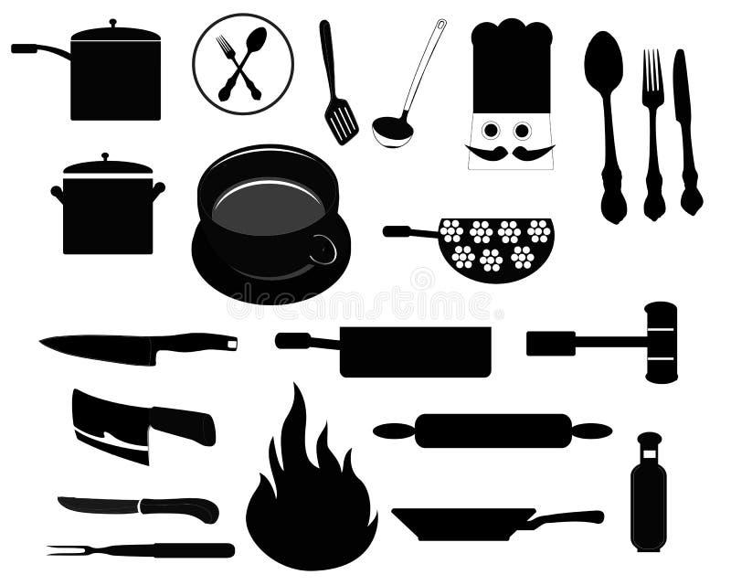 Elementi della cucina illustrazione vettoriale
