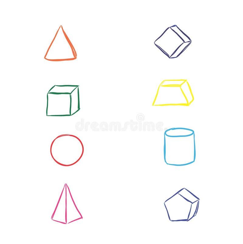 Elementi della geometria, schizzo, illustrazione di vettore royalty illustrazione gratis