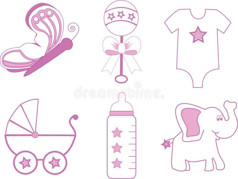 Elementi della neonata immagini stock