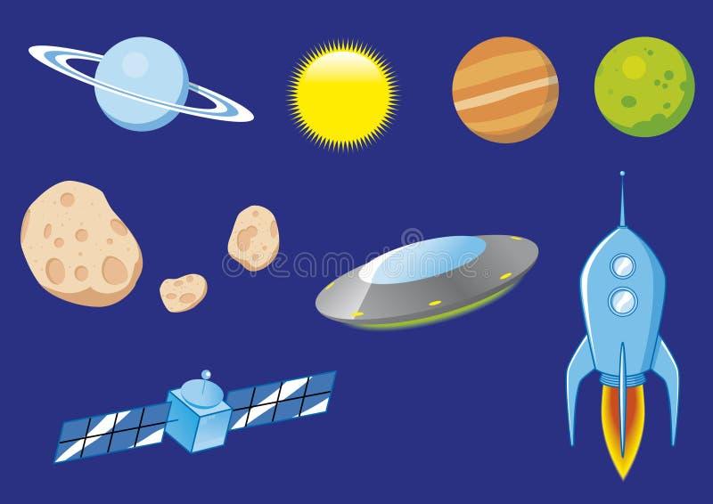 Elementi dello spazio illustrazione vettoriale