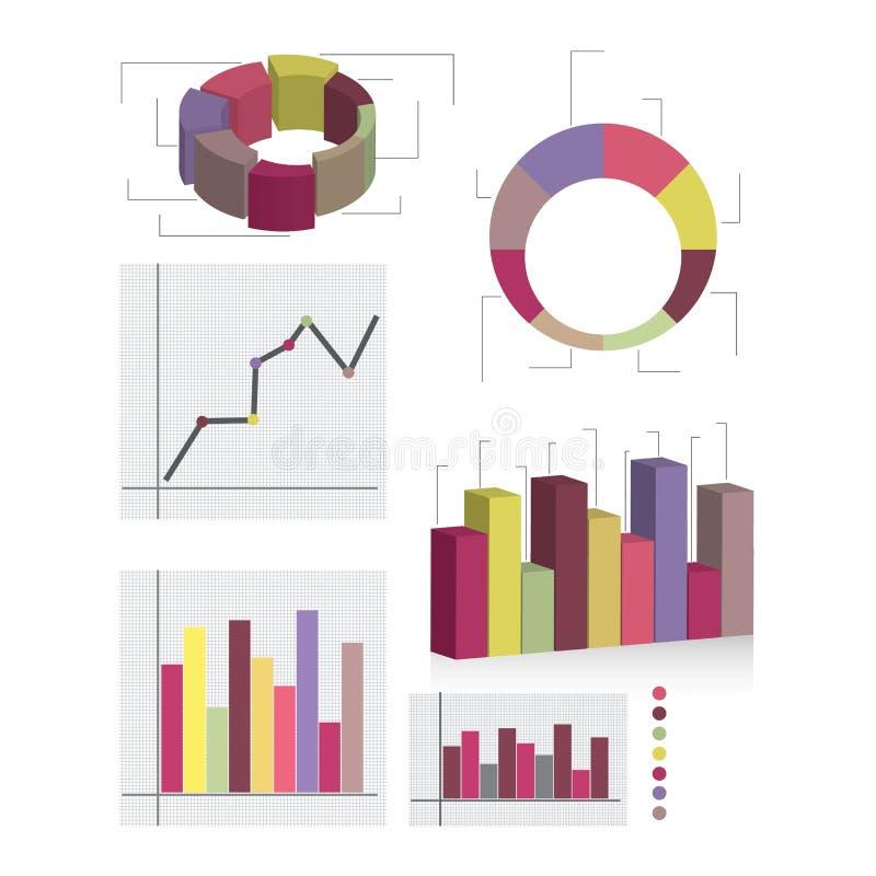 Elementi dettagliati dei informazione-grafici con le etichette immagine stock