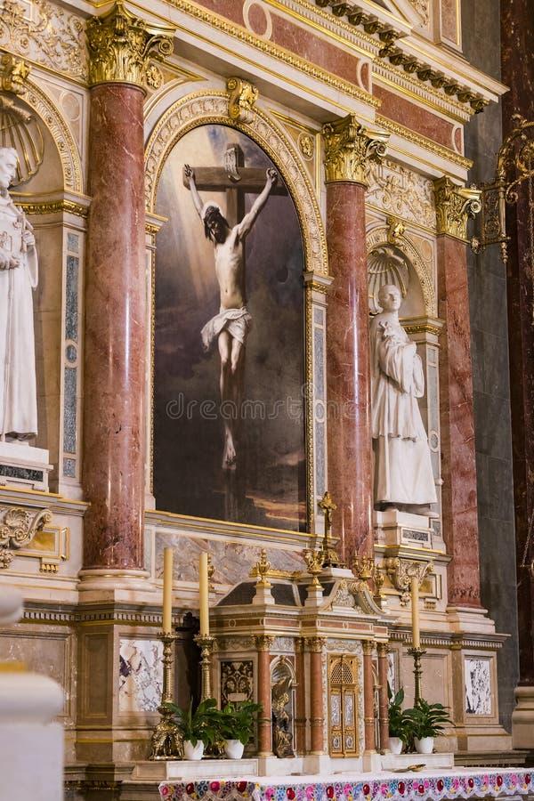 Elementi di architettura e dell'interno nella basilica di St Stephen fotografia stock