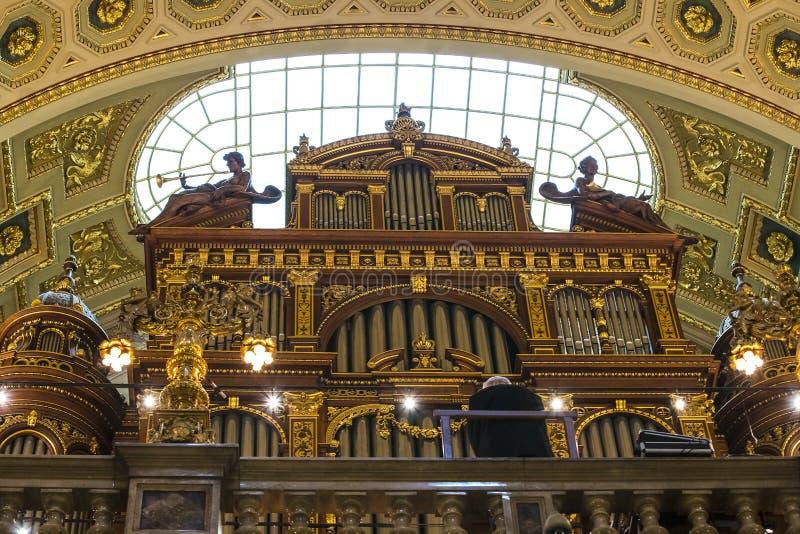 Elementi di architettura e dell'interno nella basilica di St Stephen fotografie stock libere da diritti