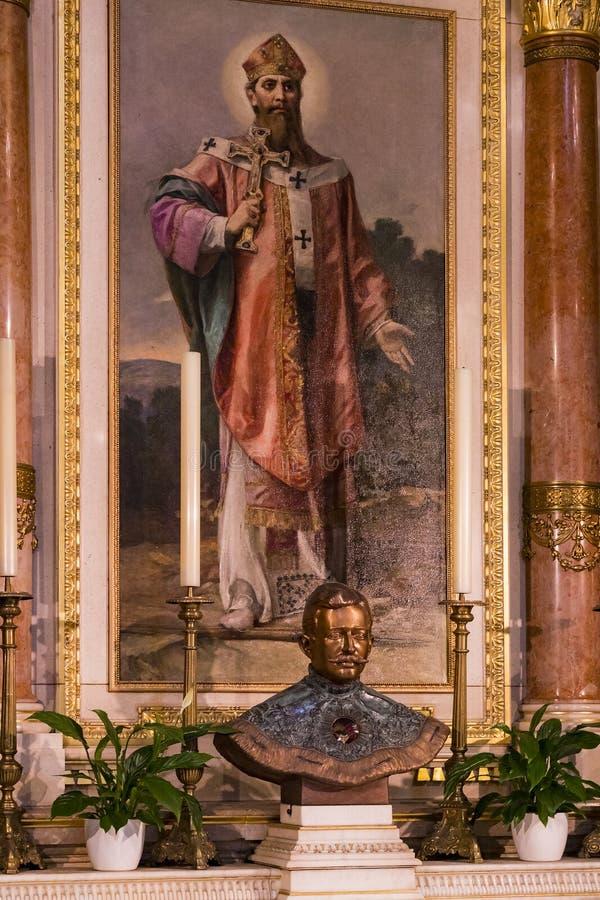Elementi di architettura e dell'interno nella basilica di St Stephen immagine stock