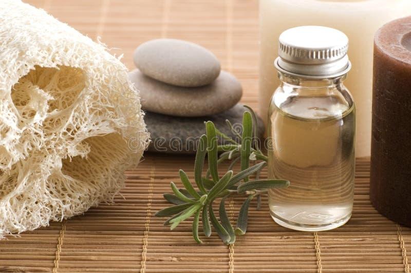 Elementi di Aromatherapy fotografie stock