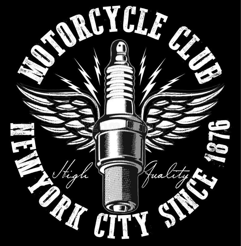 Elementi di Chopper Motorcycle royalty illustrazione gratis