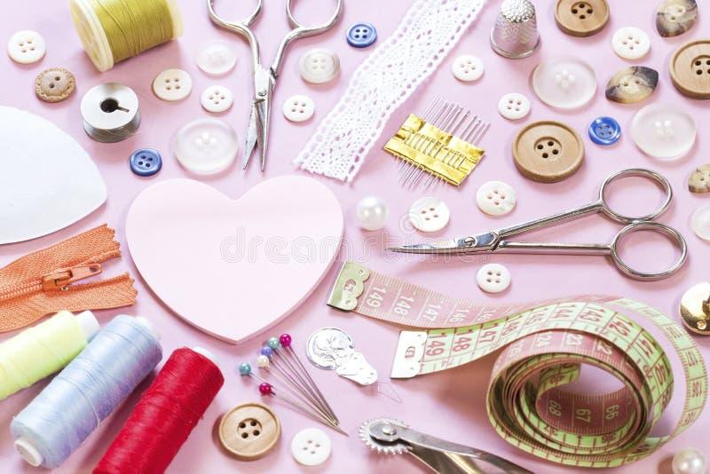Elementi di cucito immagini stock