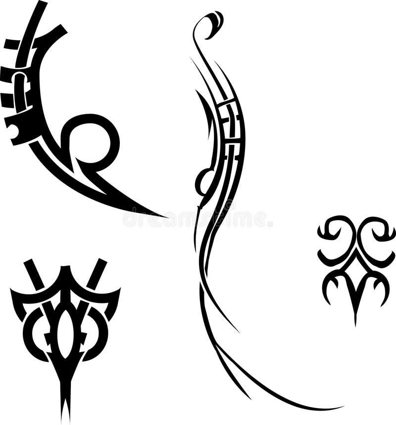 Elementi di disegno. illustrazione di stock