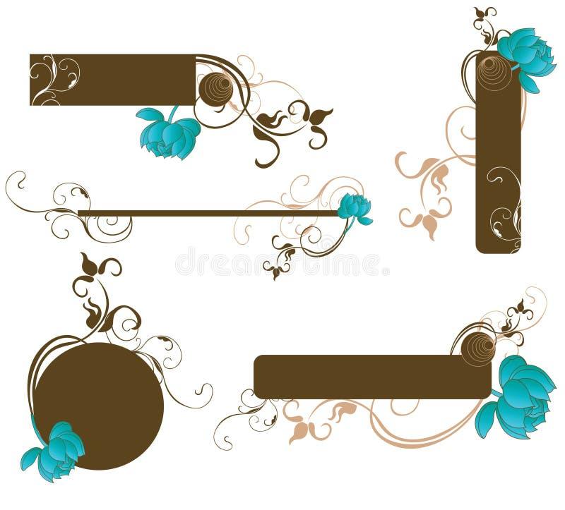 Download Elementi di disegno illustrazione vettoriale. Illustrazione di petalo - 7321548