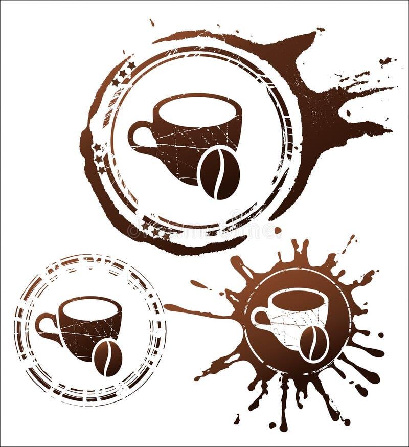 Elementi di disegno del caffè. illustrazione di vettore royalty illustrazione gratis