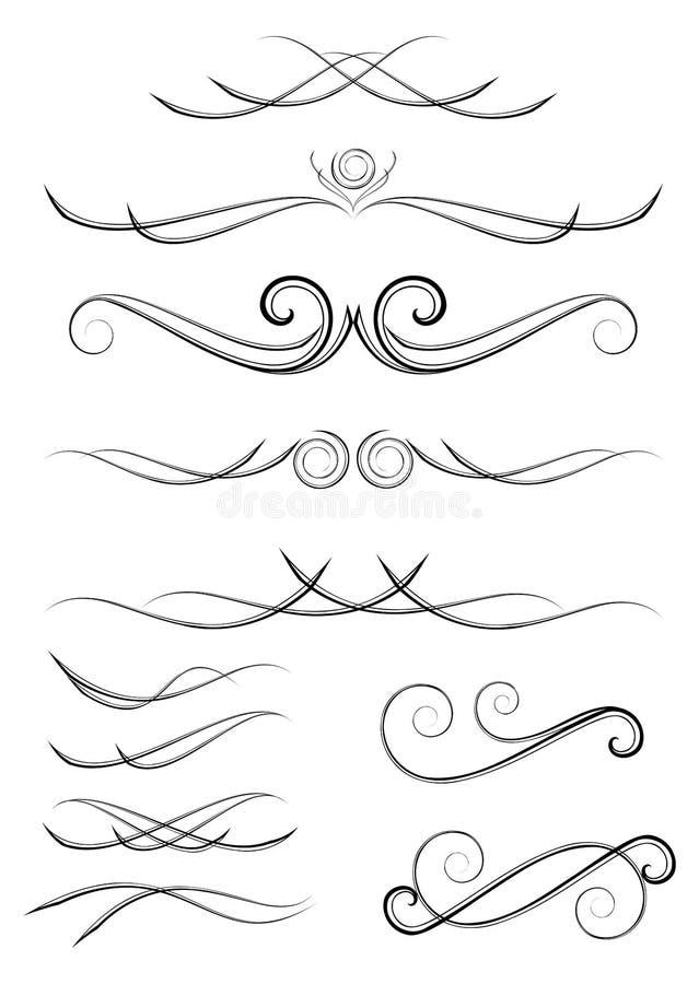 Elementi di disegno del rotolo royalty illustrazione gratis
