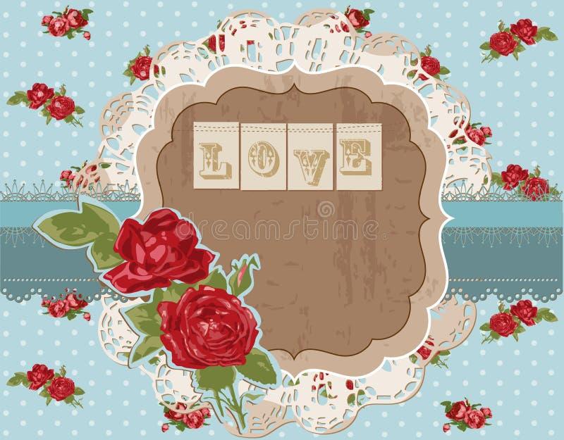 L'annata fiorisce la pagina dell'album per ritagli illustrazione vettoriale
