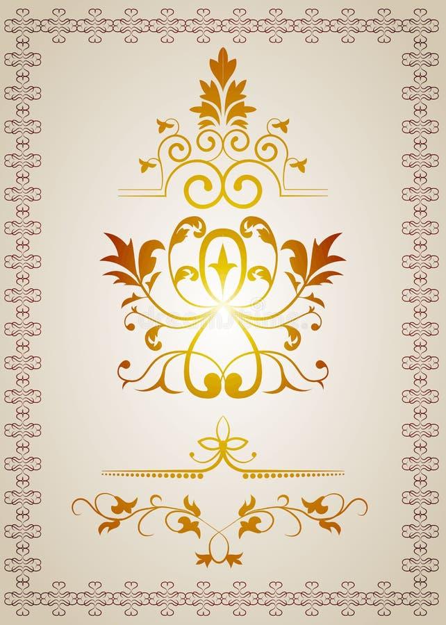 Elementi di disegno dell'annata royalty illustrazione gratis