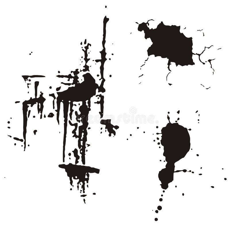Elementi di disegno di Grunge royalty illustrazione gratis