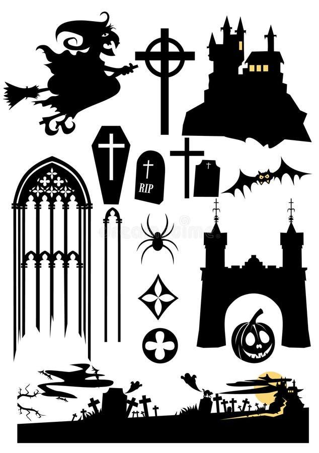 Elementi di disegno di Halloween royalty illustrazione gratis