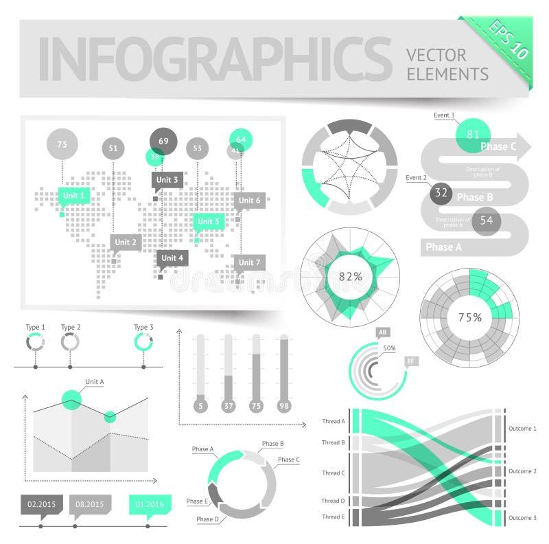 Elementi di disegno di Infographic illustrazione di stock