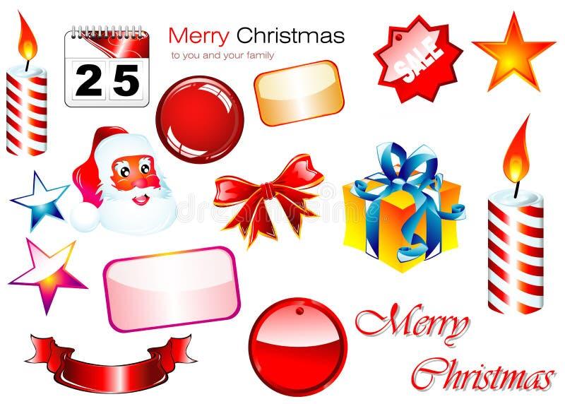 Download Elementi Di Disegno Di Natale Illustrazione Vettoriale - Illustrazione di celebrazione, illustrazione: 7309829