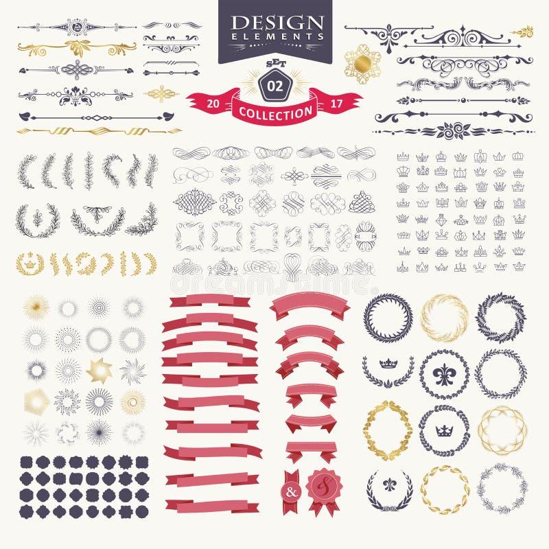 Elementi di disegno di premio Grande per il retro logos d'annata royalty illustrazione gratis