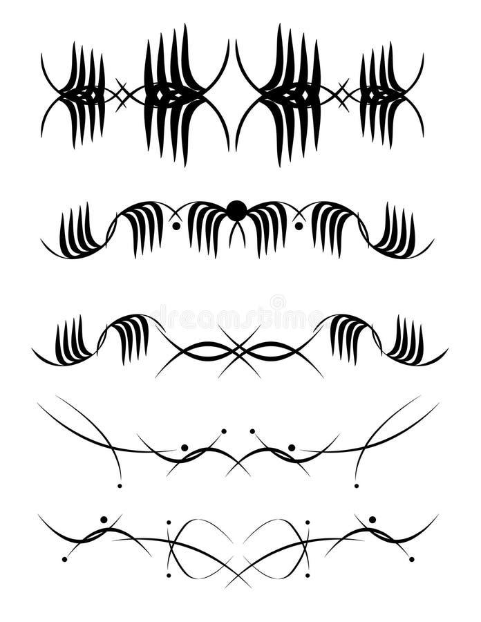 Elementi di disegno di vettore illustrazione di stock