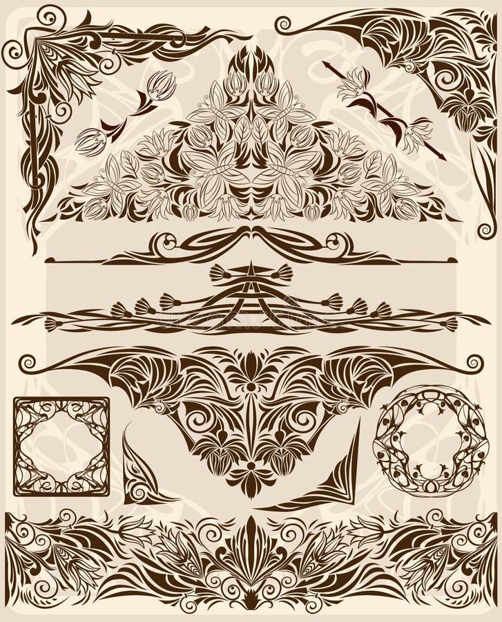 Elementi di disegno di vettore illustrazione vettoriale