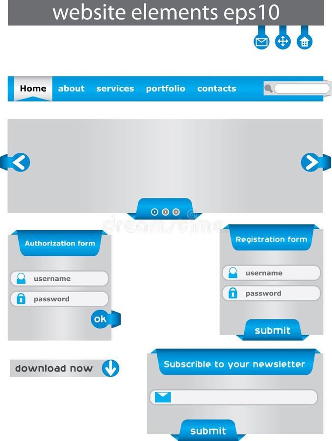Elementi di disegno di Web. illustrazione vettoriale