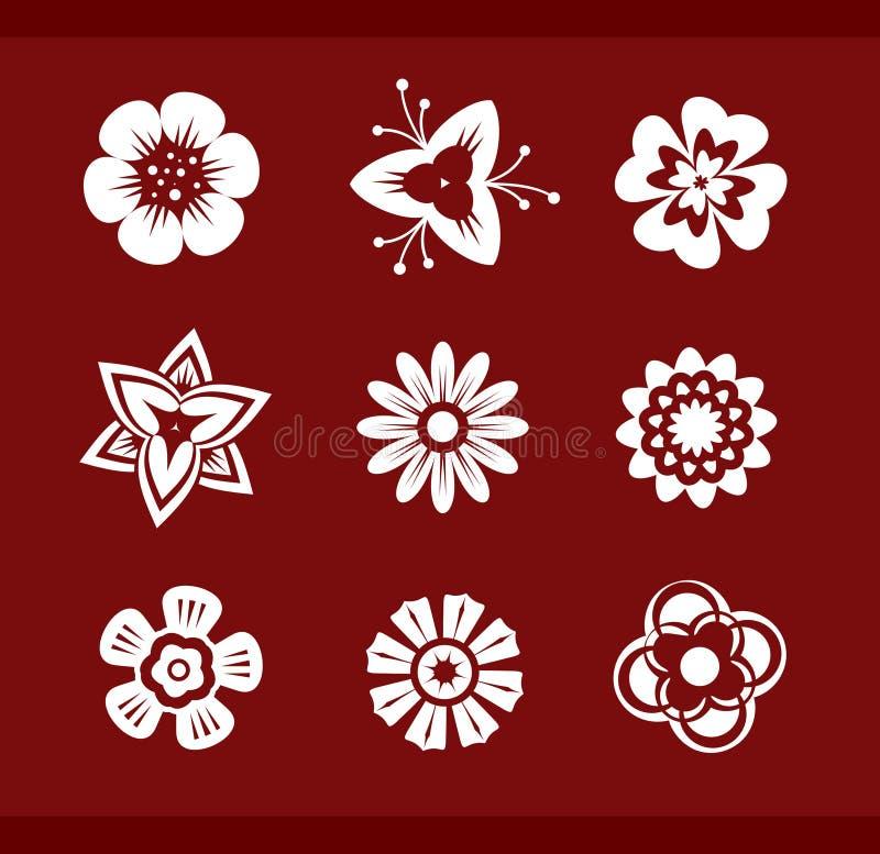 Elementi di disegno: Fiori (part1) royalty illustrazione gratis