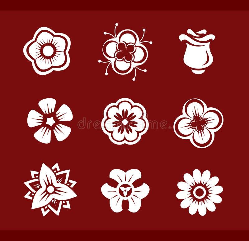 Elementi di disegno: Fiori (part2) illustrazione di stock