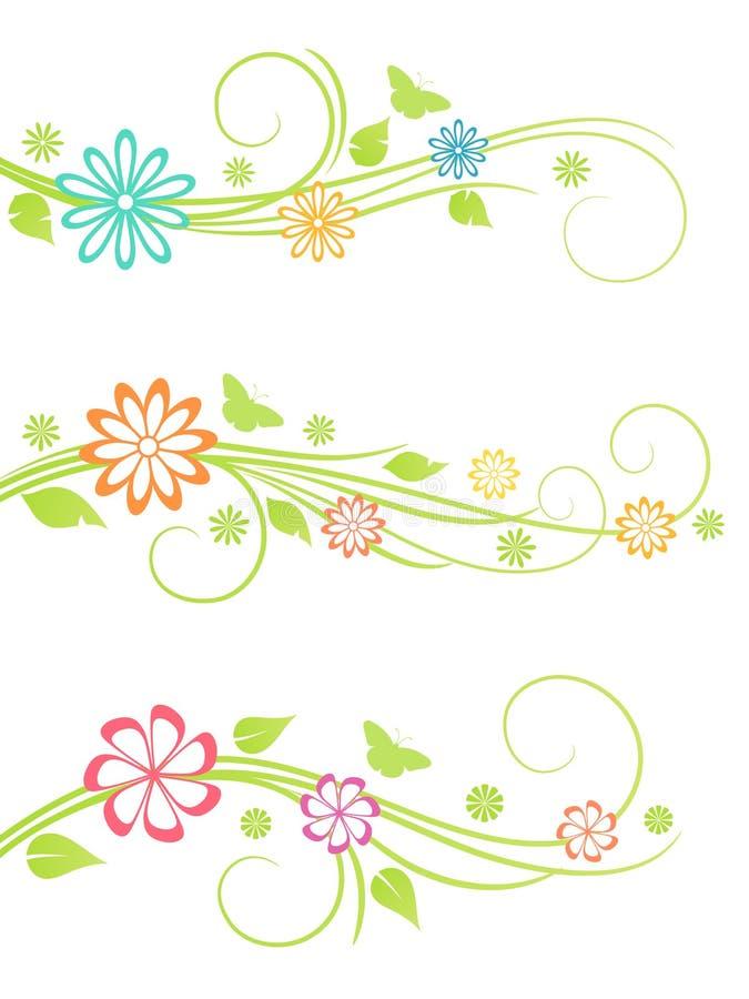 Elementi di disegno floreale. royalty illustrazione gratis